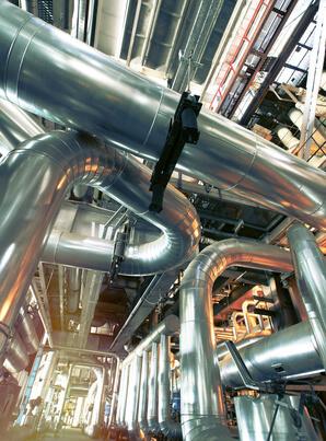 Il est possible d'isoler des installations qui stockent ou transportent des fluides chauds ou froids